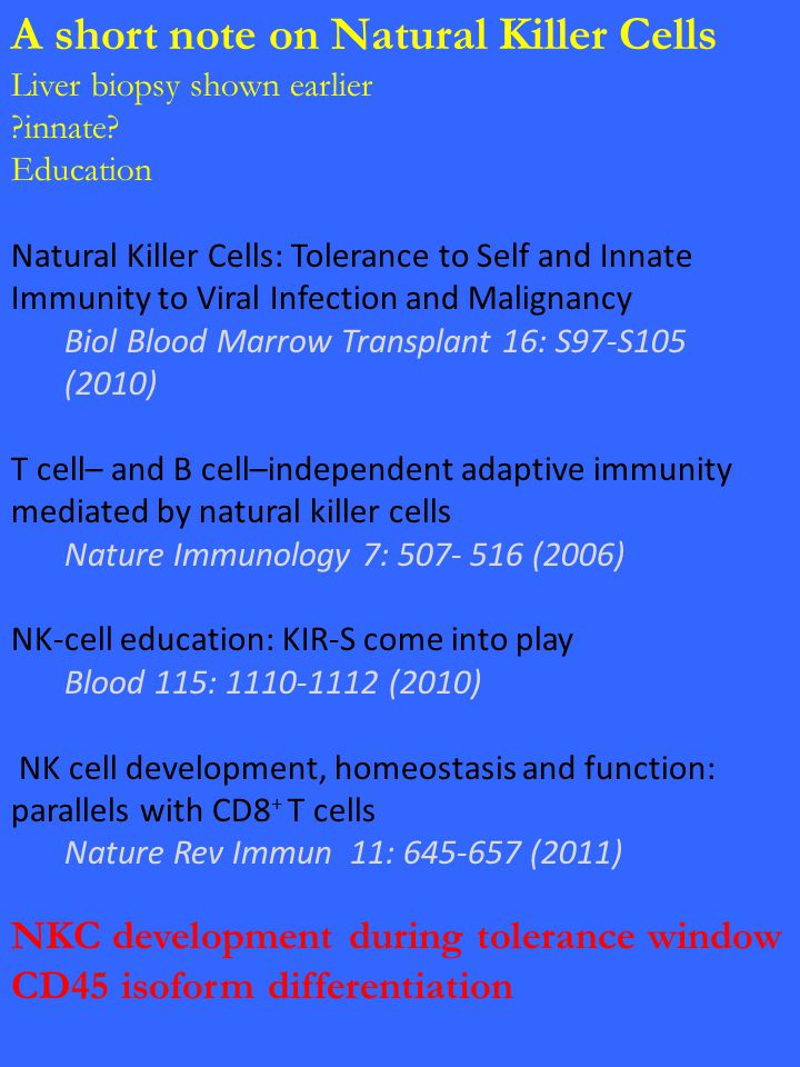 A short note on Natural Killer Cells