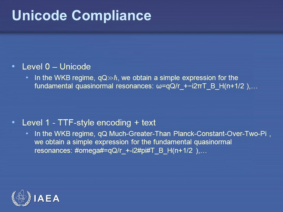 Unicode Compliance Level 0 – Unicode