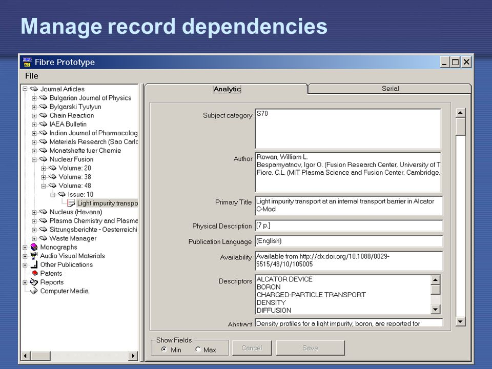 Manage record dependencies