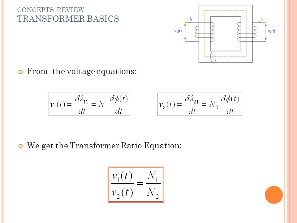 From the voltage equations: