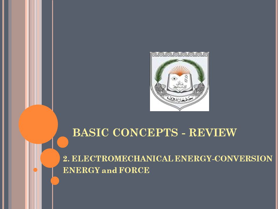 BASIC CONCEPTS - REVIEW