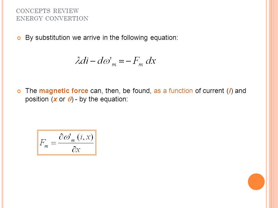 By substitution we arrive in the following equation:
