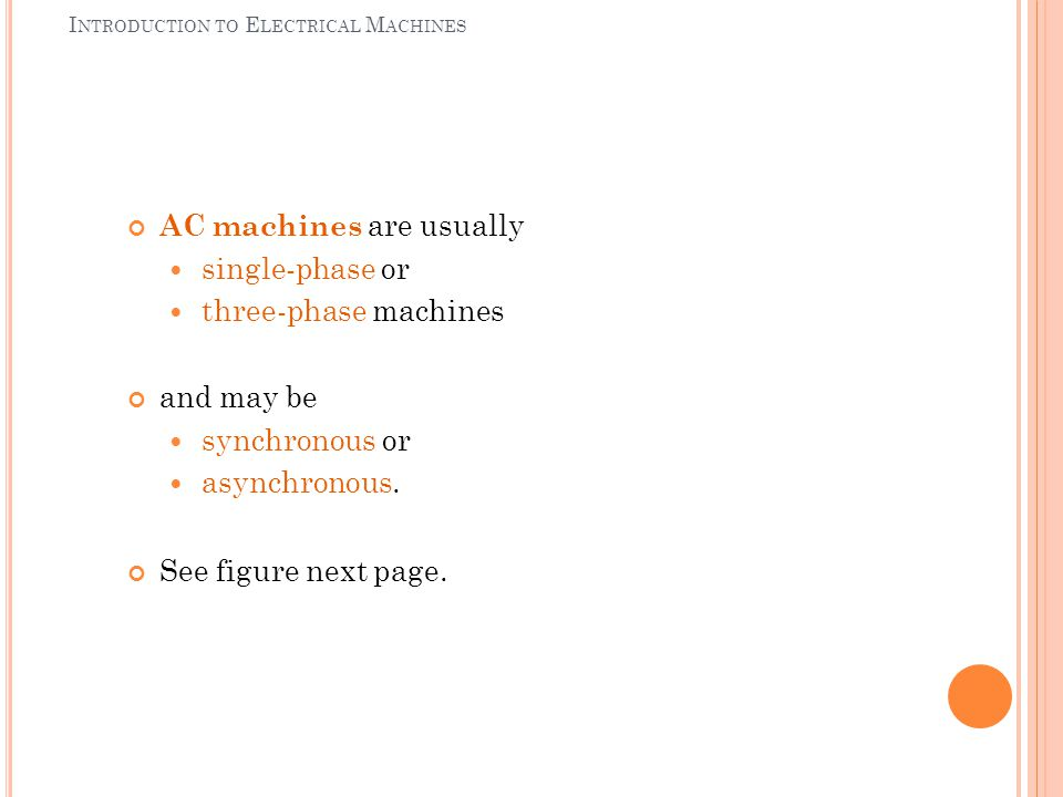 Introduction to Electrical Machines