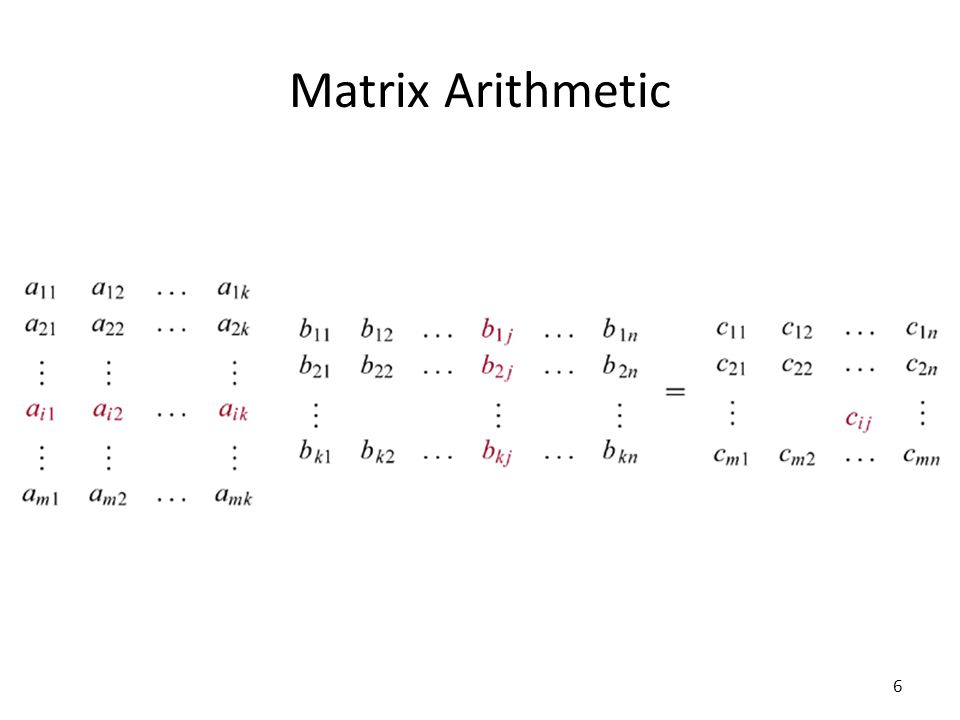 Matrix Arithmetic