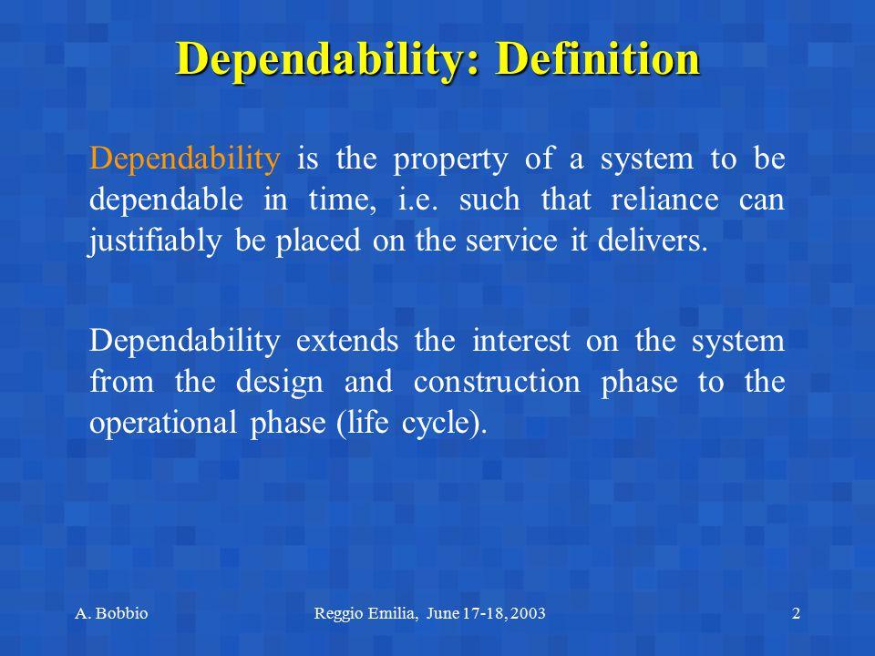 Dependability: Definition