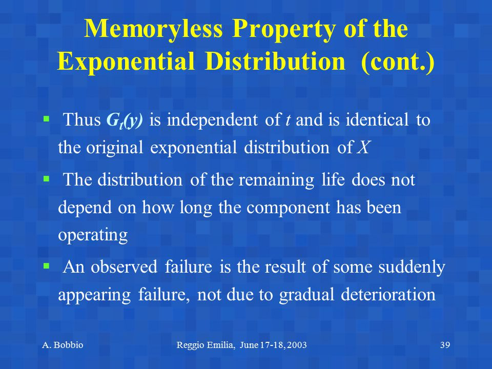 Memoryless Property of the Exponential Distribution (cont.)