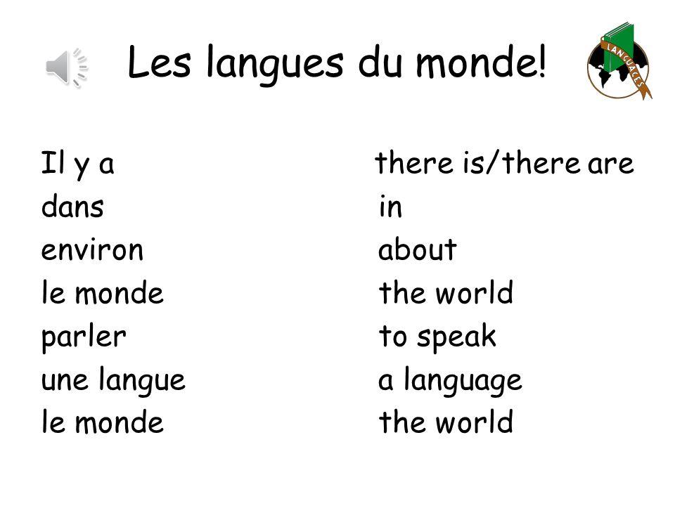 Les langues du monde.