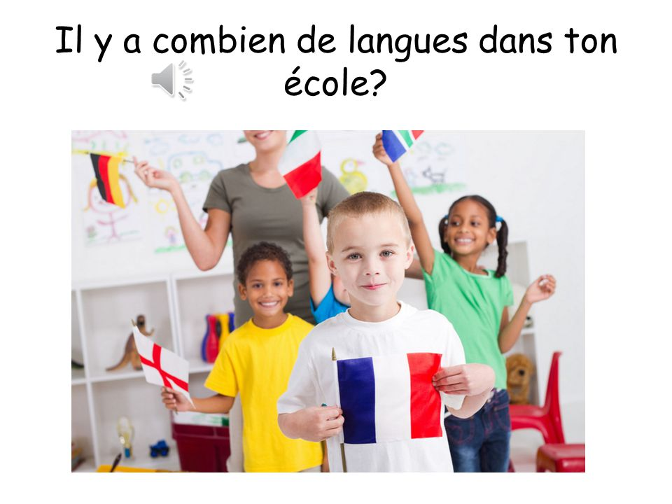 Il y a combien de langues dans ton école