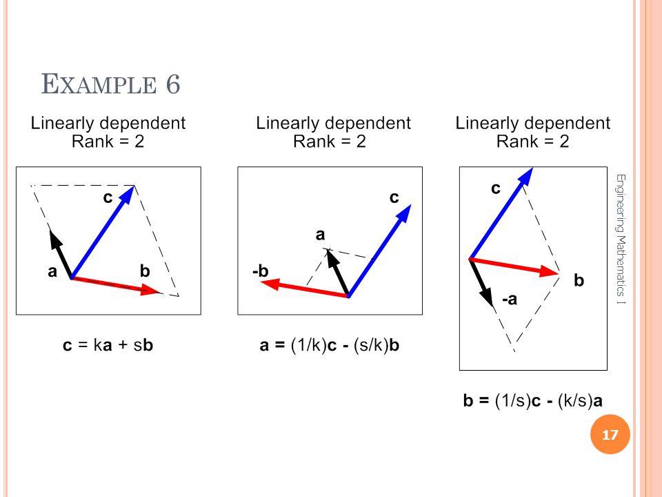 Example 6 Engineering Mathematics I