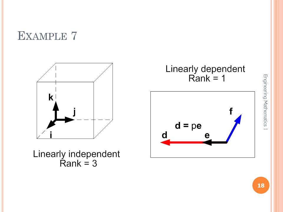 Example 7 Engineering Mathematics I