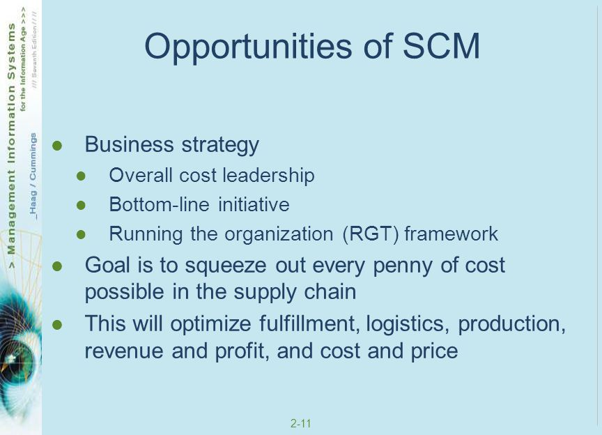 Opportunities of SCM Business strategy