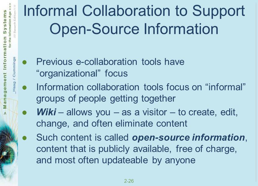 Informal Collaboration to Support Open-Source Information