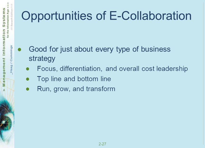 Opportunities of E-Collaboration