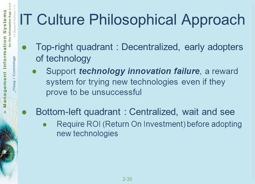 IT Culture Philosophical Approach