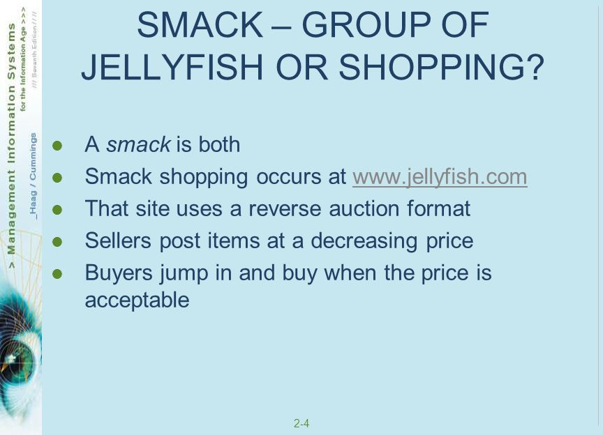 SMACK – GROUP OF JELLYFISH OR SHOPPING