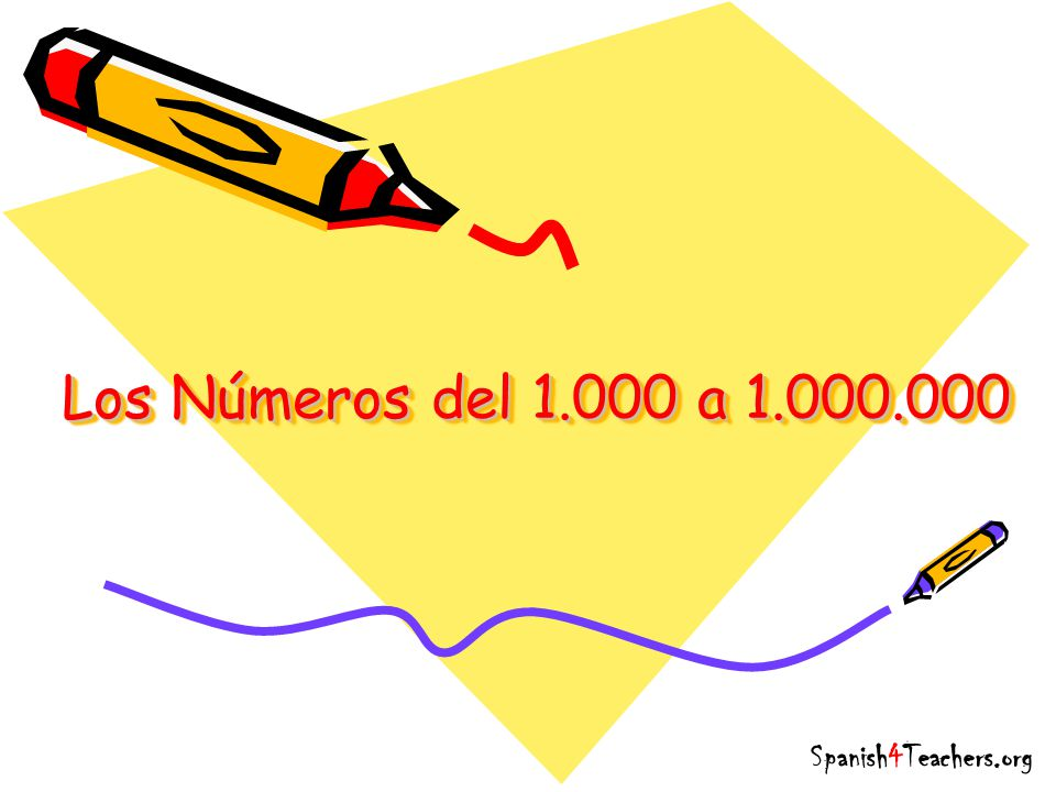 Los Números del 1.000 a 1.000.000 Spanish4Teachers.org