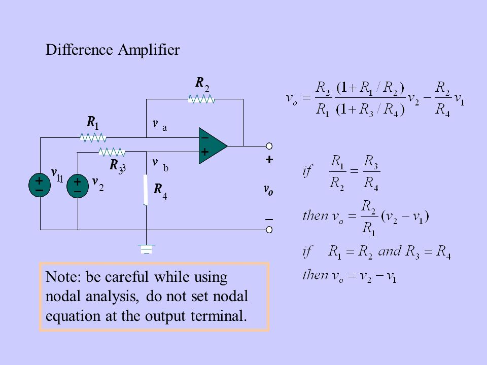Difference Amplifier 2. 1. 3. 4. a. b.