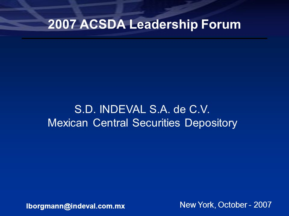 2007 ACSDA Leadership Forum