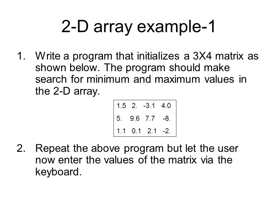 2-D array example-1