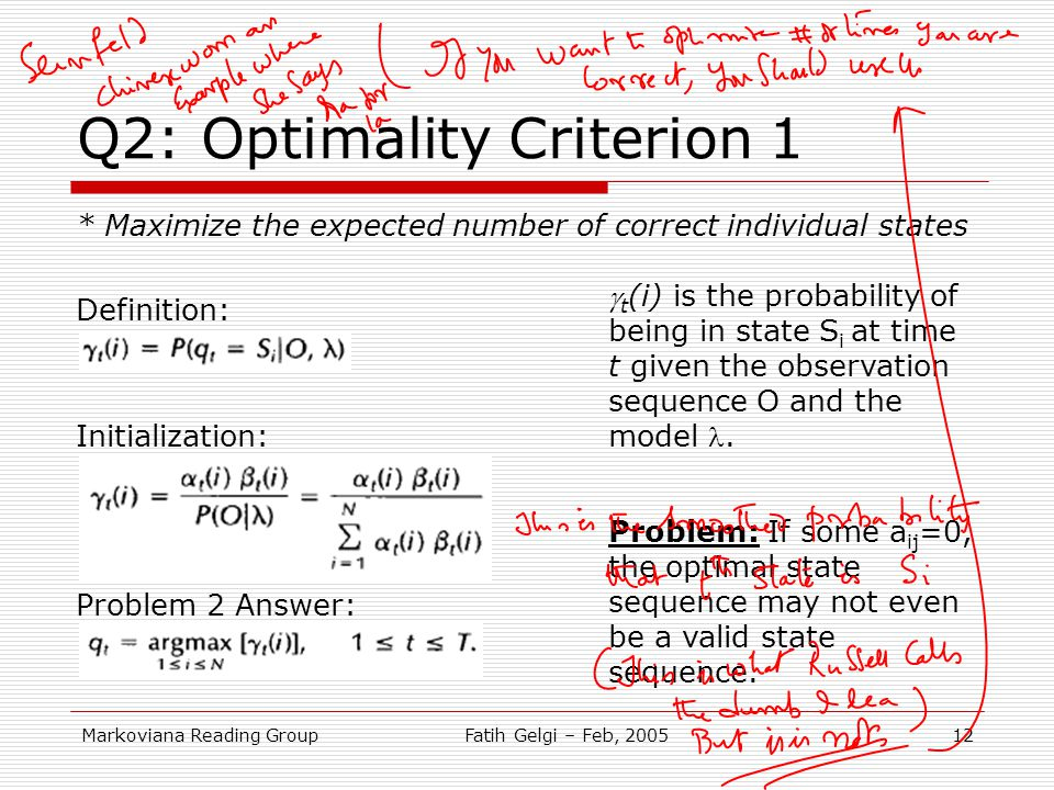 Q2: Optimality Criterion 1