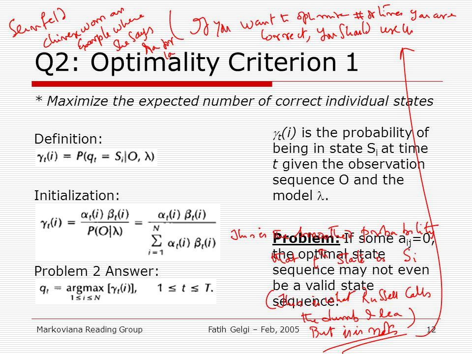 Q2: Optimality Criterion 1