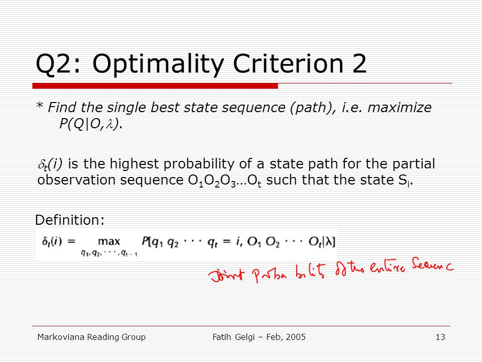Q2: Optimality Criterion 2