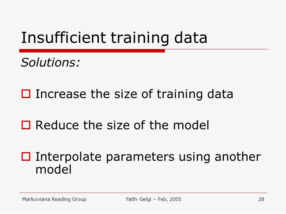 Insufficient training data