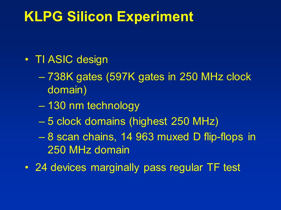 KLPG Silicon Experiment