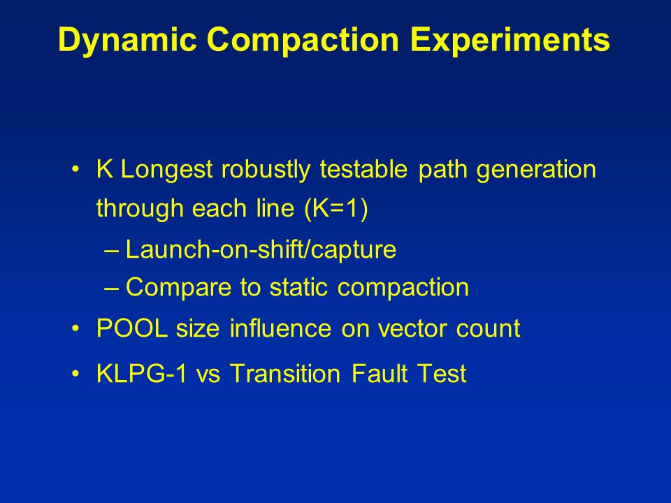 Dynamic Compaction Experiments