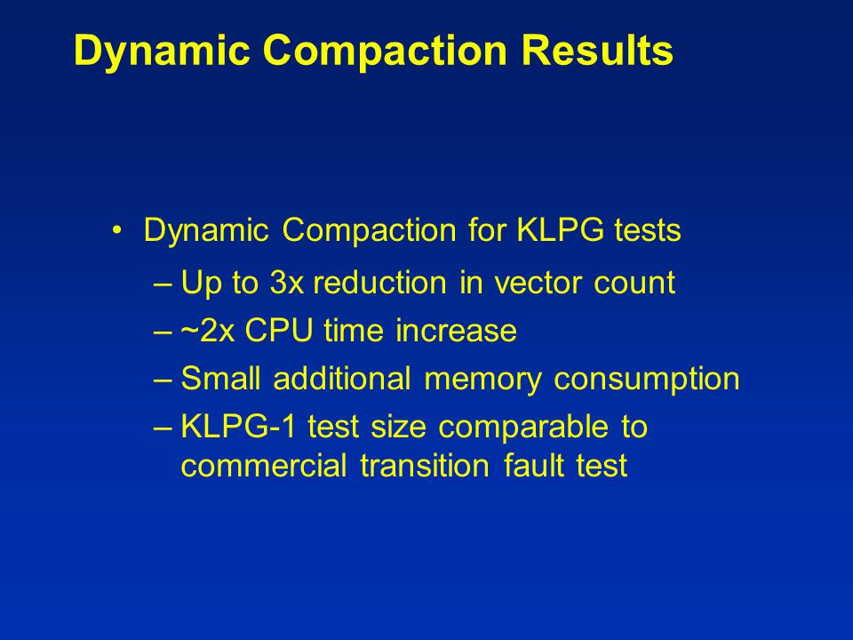 Dynamic Compaction Results