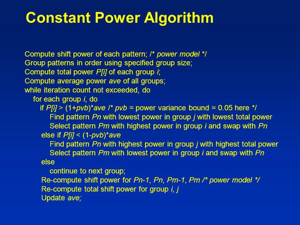 Constant Power Algorithm