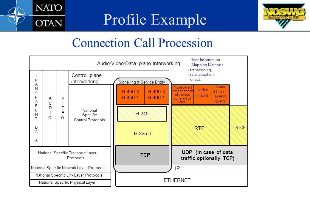 Profile Example Connection Call Procession Control plane interworking