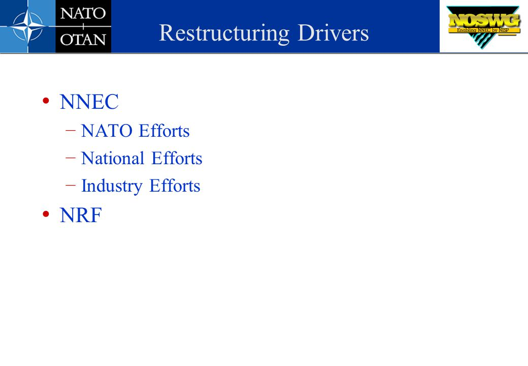 Restructuring Drivers