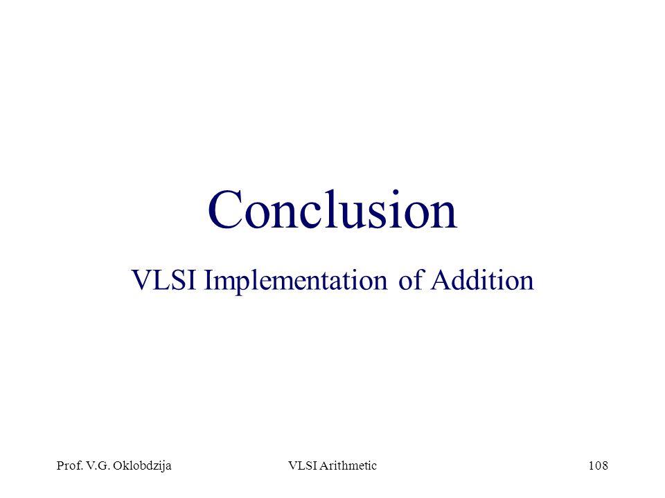 VLSI Implementation of Addition