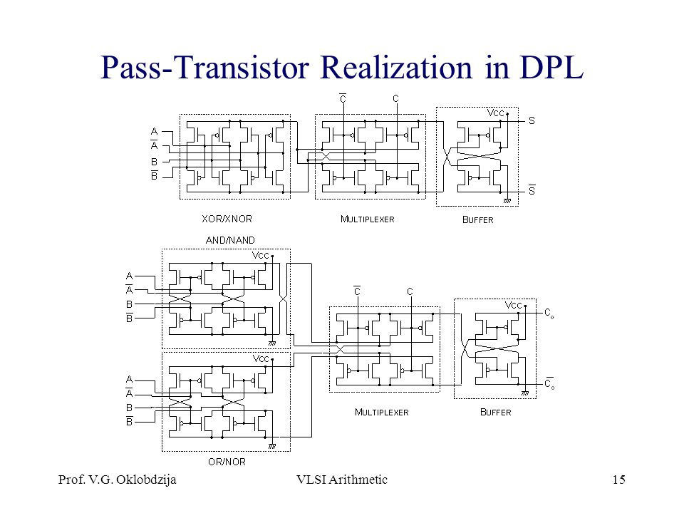 Pass-Transistor Realization in DPL