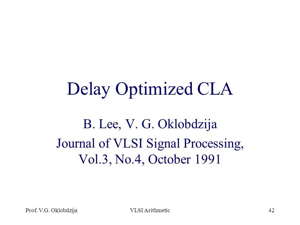Journal of VLSI Signal Processing, Vol.3, No.4, October 1991
