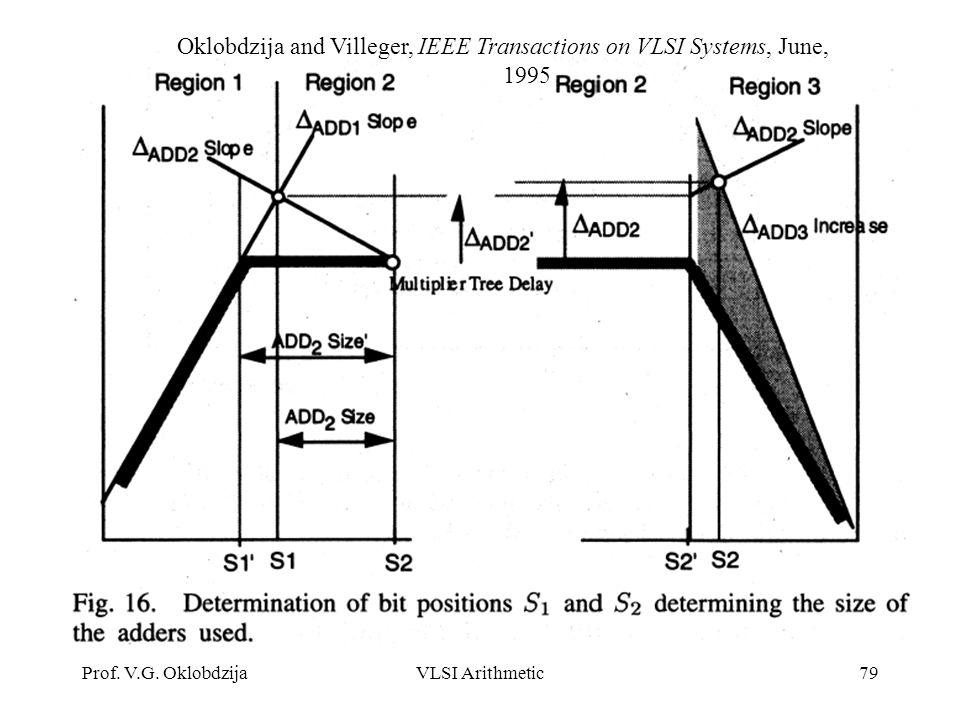 Oklobdzija and Villeger, IEEE Transactions on VLSI Systems, June, 1995