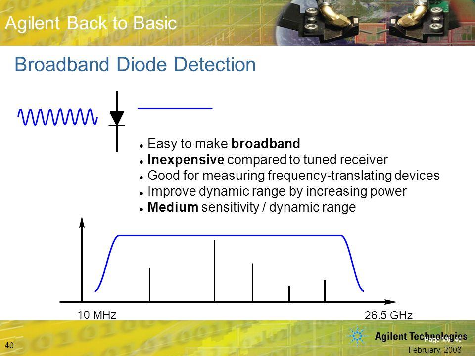 Broadband Diode Detection