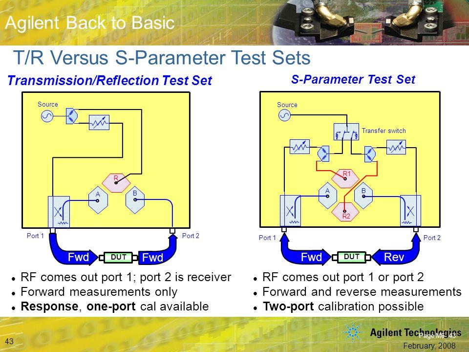 Transmission/Reflection Test Set