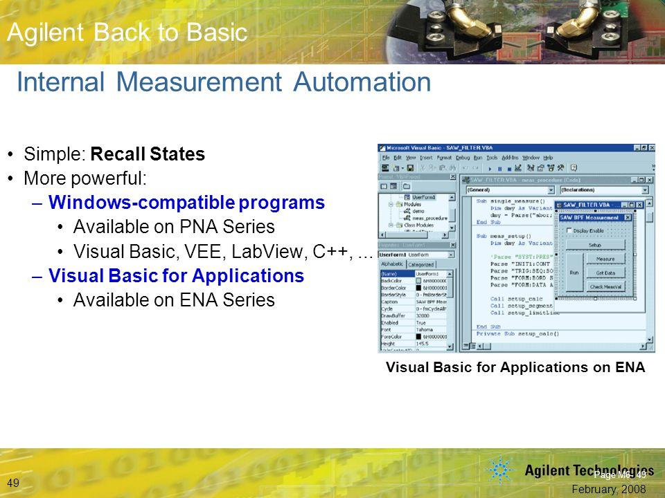 Internal Measurement Automation