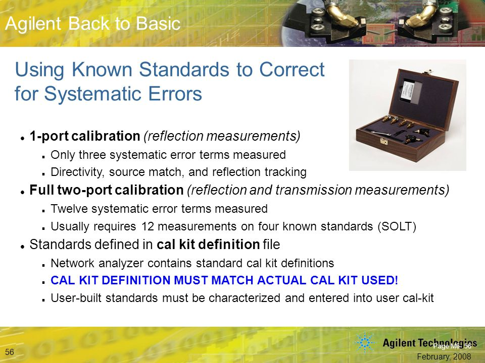 Using Known Standards to Correct for Systematic Errors