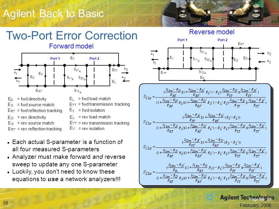 Two-Port Error Correction