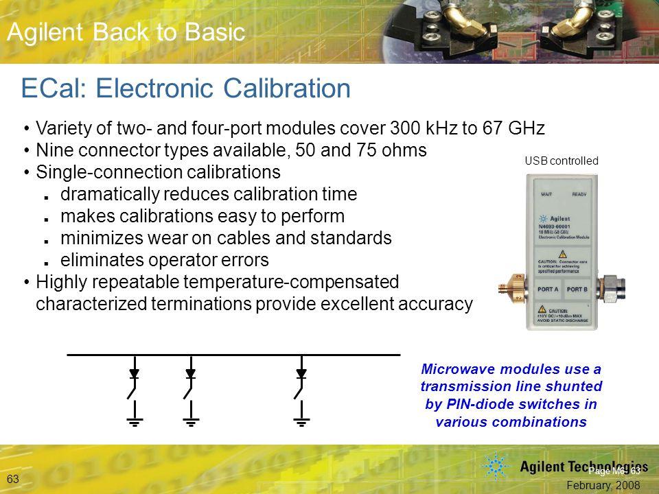 ECal: Electronic Calibration