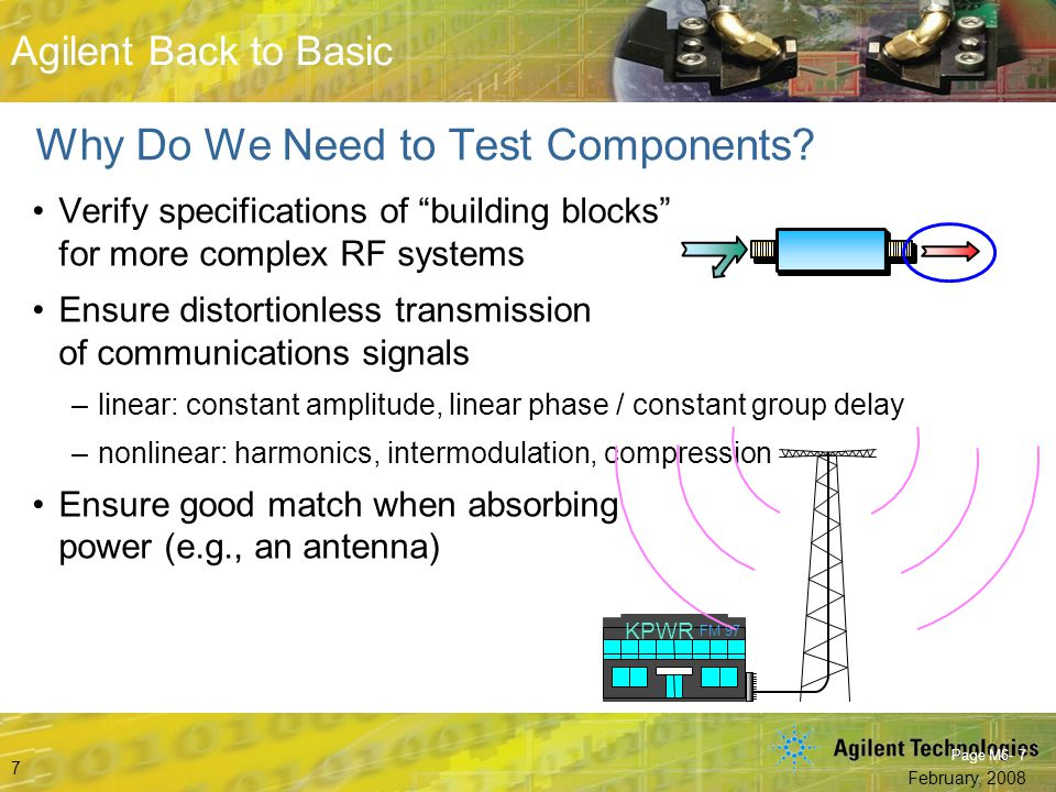Why Do We Need to Test Components