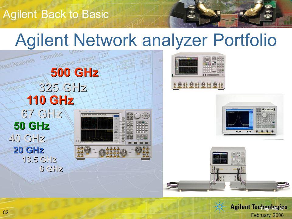 Agilent Network analyzer Portfolio