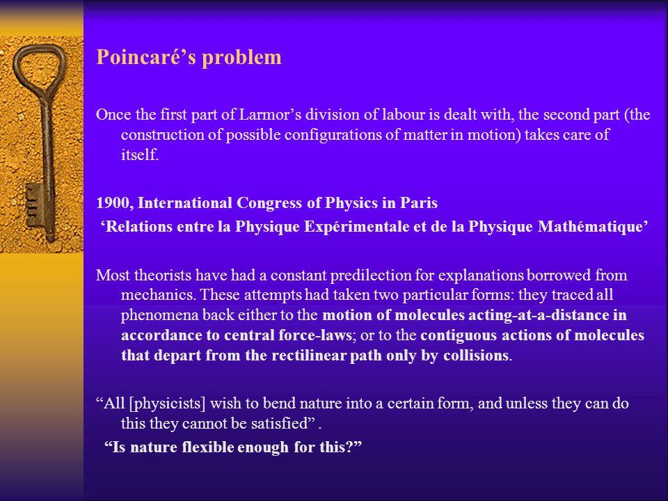 Poincaré's problem