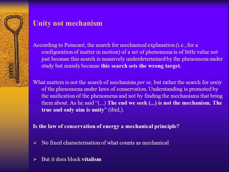 Unity not mechanism