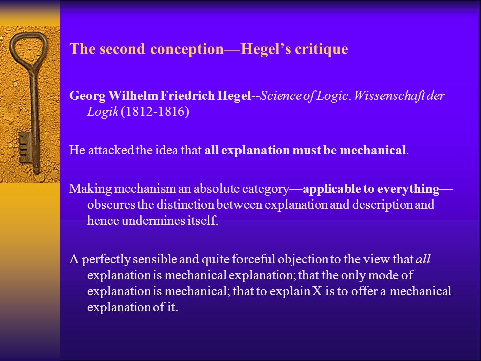 The second conception—Hegel's critique