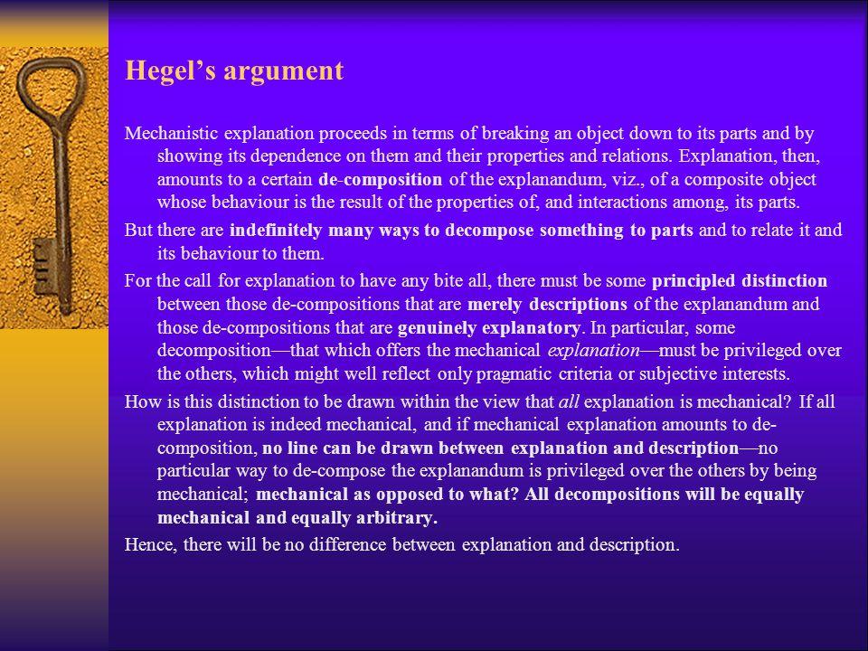 Hegel's argument