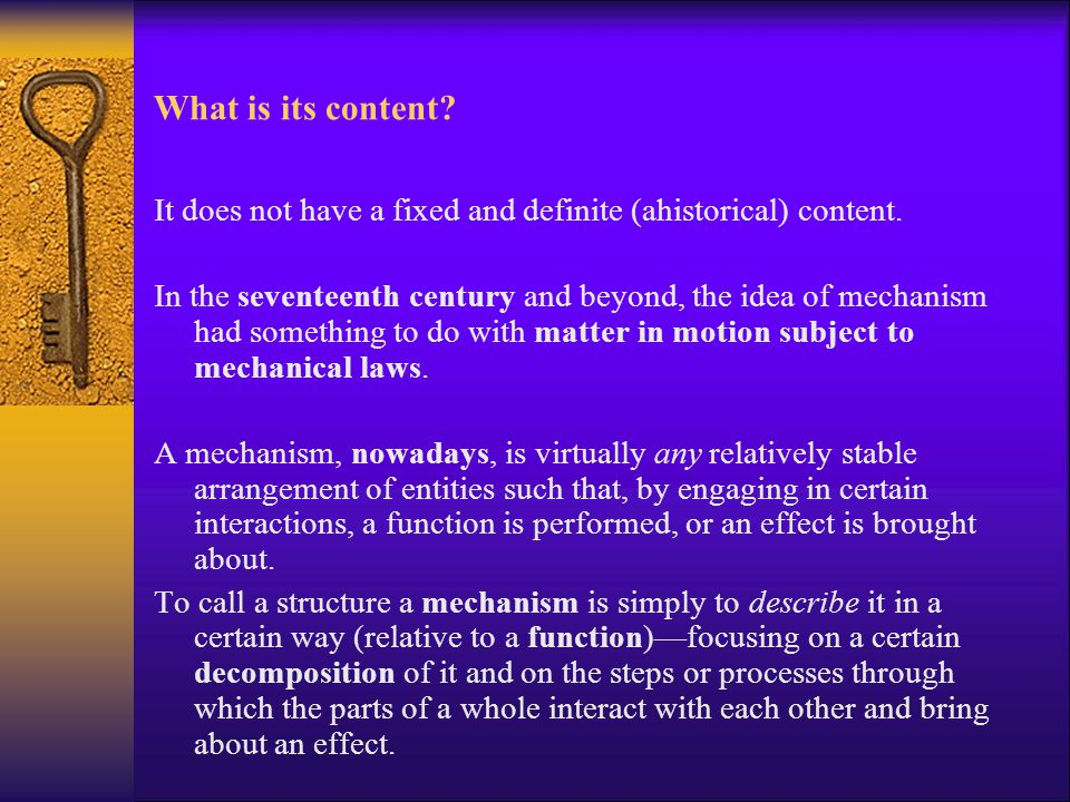What is its content It does not have a fixed and definite (ahistorical) content.